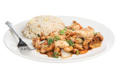 Chinese Chicken with Cashew Nuts. Takeaway meal Royalty Free Stock Image