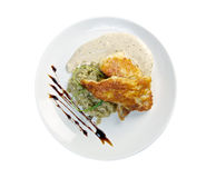 Chinese Chicken Curry. Served with rice stock images