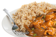 Chinese Chicken Curry Takeaway Stock Photography