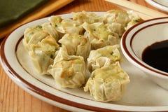 Chinese chicken dumplings Stock Photo