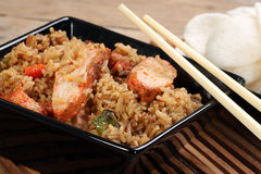 Chinese chicken fried rice Royalty Free Stock Images