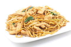 Chinese Chicken Lo Mein Stock Images