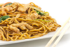 Chinese Chicken Lo Mein Stock Photos