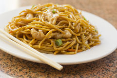 Chinese Chicken Lo Mein. Delicious chinese food, chicken Lo Mein stir fry stock image