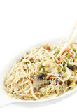 Chinese Chicken And Noodles Royalty Free Stock Images
