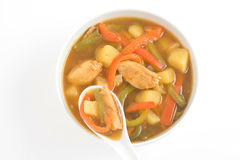 Chinese chicken soup chicken and vegetables Stock Photo