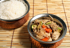 Chinese chicken stir-fry food  Royalty Free Stock Photos