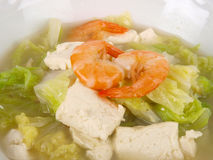 Chinese Chicken stock tofu soup Stock Images