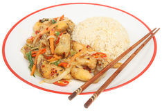 Chinese Chicken Takeaway Meal royalty free stock photography