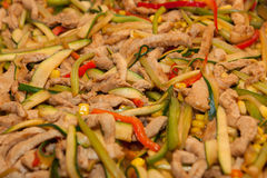 Chinese chicken and vegetables. Stock Photography