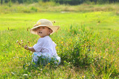 Chinese Child. One chinese little lucky child Royalty Free Stock Photo