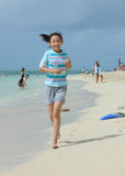 Chinese child on the beach Stock Photography
