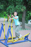 Chinese child fitness Stock Images
