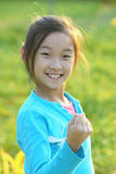Chinese child making a fist Stock Photo
