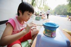 Chinese child painting Royalty Free Stock Photo