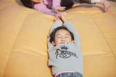 chinese child playing Stock Photo