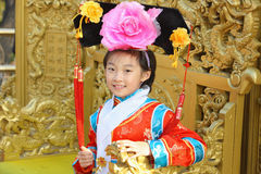 chinese child with traditional clothes Royalty Free Stock Images