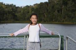 Chinese child visit lark lake Stock Image