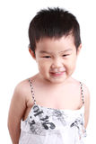 Chinese children. A cute chinese children with white background royalty free stock photography