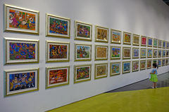Chinese Children Art Exhibition Stock Photo