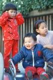 Chinese children celebrating Stock Photo