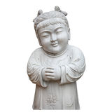 Chinese children marble Stone carving Royalty Free Stock Photography