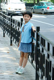 chinese children near the road Stock Images