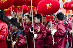 Chinese children during new year 2014 in Paris Royalty Free Stock Photo
