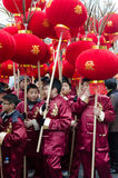 Chinese children during new year 2015 in Paris Royalty Free Stock Photo