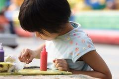 chinese children painting stock image