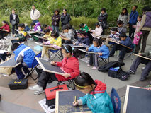 Chinese children painting Royalty Free Stock Photography