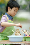 chinese children painting Royalty Free Stock Image