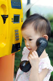 Chinese children with phone Stock Images