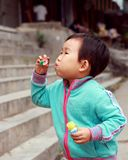 Chinese children playing. Stock Photo