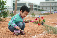 Chinese children playing. Royalty Free Stock Photography