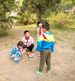 Chinese children playing games Stock Image