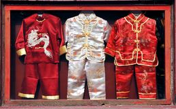 Chinese children's clothes Stock Photo
