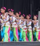 Chinese Children's Dance Troupe. At Kaleido Festival September 2014 Edmonton Alberta stock images