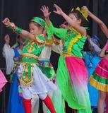Chinese Children's Dance Troupe. At Kaleido Festival September 2014 Edmonton Alberta royalty free stock image