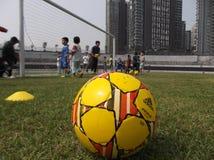 Chinese children's football training Stock Image