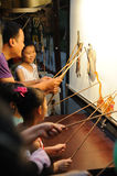 Chinese children shadow play performances royalty free stock photography