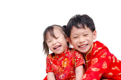 Chinese children in traditional costume Stock Images