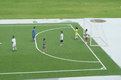 Chinese children are training football Royalty Free Stock Photography
