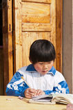 Chinese children write operation Royalty Free Stock Photos