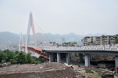 Chinese Chongqing. Asia Chongqing city landscape river near China details Stock Photography