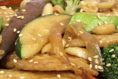 Chinese chop suey close up Royalty Free Stock Images