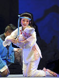 Chinese Chu opera actress. CHENGDU - JUN 8: Chinese Chu opera performer make a show on stage to compete for awards in 25th Chinese Drama Plum Blossom Award Stock Photography