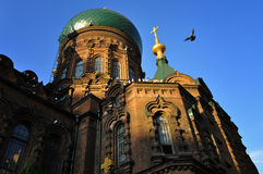 Chinese Church. The Far East's largest Orthodox Church Royalty Free Stock Photo