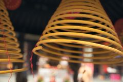 Chinese circle incense. In temple Stock Photos