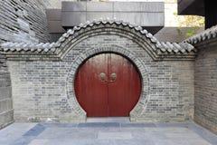 Chinese circular wooden door royalty free stock photography